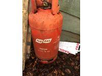 Free 19kg propane bottle - half full