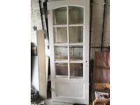 2 x glazed interior doors