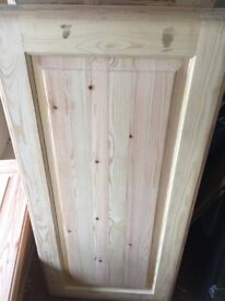 New kitchen doors in pine no holes etc brand new solid centre panels would make a nice dresser etc