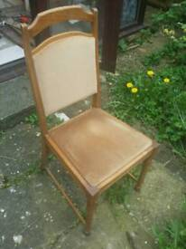 Six dining chairs solid oak retro