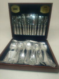 Viners 44 piece canteen of cutlery unused