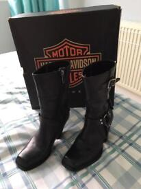 Harley Davidson Ladies Motorcycle Boots.