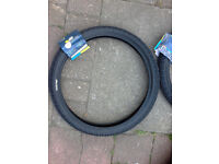 bicycle tyres bmx black new 2 tyres one pair tires