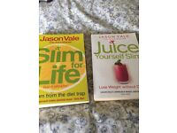 Jason Vale 'Slim for Life' and 'Juice yourself Slim', Unused / very good condition