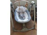 Battery powered portable baby swing chair