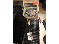 Mini BBQ and 3kg Bag of Coals Unused.