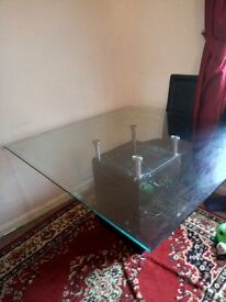 stunning glass and marble table