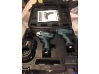 Brand new erbauer 10.8v drill set. Impact driver and drill.