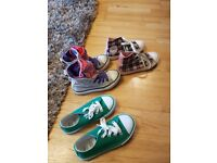 3 pairs girls trainers – size 10 – 2 Converse, 1 from Dunnes - £10