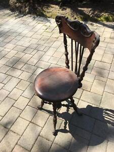 Antique Piano Seat
