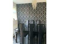 Dining table set with 8 chairs (extendable)