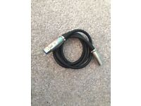 XLR 1.5m 5ft cable for microphones and sound equipment