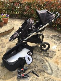 Baby Jogger City Select double buggy with carrycot and more