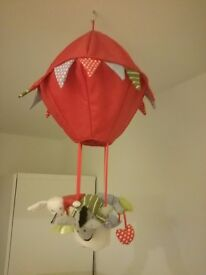 Hanging soft hot air balloon suitable for child's bedroom