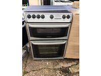 CANNON 60CM CEROMIC TOP ELECTRIC COOKER IN SILIVER.