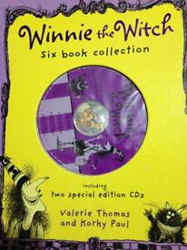 Winnie the witch 6 books with 2 audio cd's