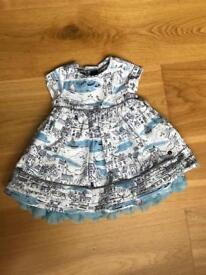 BNWOT Marks and Spencer Autograph baby girl dress 0-3 months