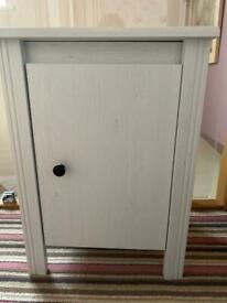 White Brunel Ikea Bedside Cabinet
