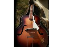 Vintage 1950's Arnold Hoyer Arch-top Guitar. Export Model for Rosetti Music in the UK.