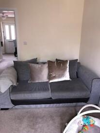Two, two year old excellent DFS sofa's, £100.