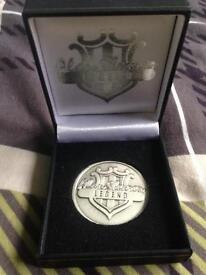 Alan shearer testimonial coin