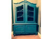 French Style Painted Display Cabinet