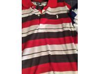 3 Ralph Lauren polo shirts
