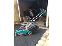 Bosch electric lawn mower. Only 2 years old. Great bit of kit. Have no lawn now. Collect Kenilworth.