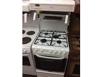 White cannon 55cm high level gas cooker grill & oven good condition with guarantee bargain
