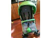 Chicco green stroller