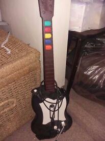 X box guitar hero guitar