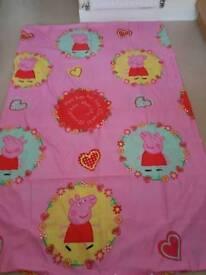 Peppa Pig Reversable Single Duvet and Pillowcase Set