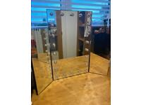 Trifold Vanity Hollywood Mirror