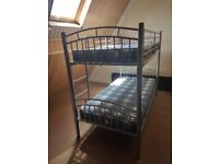 Metal Bunk Bed / 2 Single beds with mattresses
