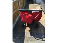 britax b agile double chili pepper pushchair