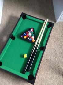 Table top pool and table top football