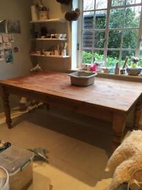 Pine Dining Room Table - 6ft x 3ft 6 inches