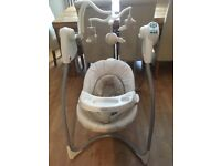 Graco baby swing. Exellent condition. 6 different speeds and various types of white noises.