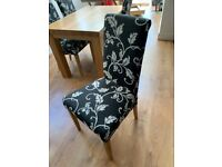 4 fabric dining chairs