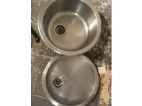 Stainless Steal Circular Sink and Drainer