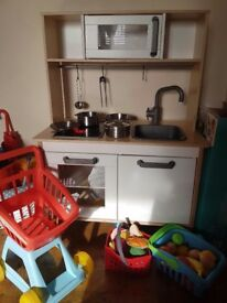 Ikea childrens wooden kitchen and other toddler toys