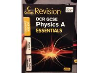 GCSE OCR Science revision workbooks. Questions and answers. Published by Collins.