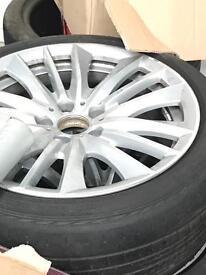 "BMW 5 Series 19"" Alloys and tyres"