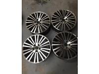"Genuine VW Golf R32 18"" Alloy Wheels With a Custom Diamond Cut Face . Brand New (Refurbished)"