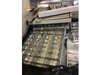 Suspended ceiling lights 1200 and 600mm with tubes and reflectors / diffusers