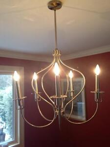 Brushed Brass Chandelier