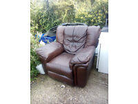 Used brown leather chair , no rips etc