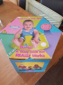 Pink Bumbo Seat with Tray and original box