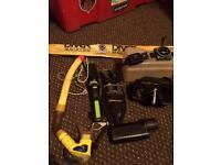 Scuba accessories. torch, compass, shears, snorkel, Scubapro Mask