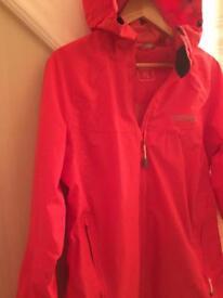 Regatta coral pink waterproof jacket. 12/14